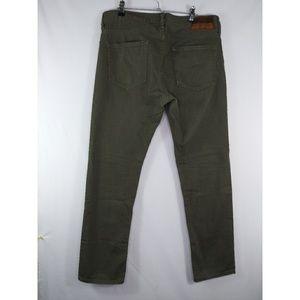 J. Crew 484 slim straight jeans  army green 31x30